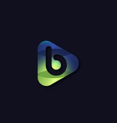 Media play b letter entertainment concept vector