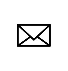 message icon black on white vector image