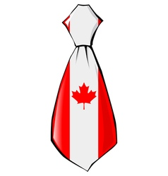 Necktie in national colours of Canada vector
