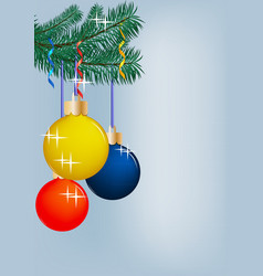 new year vertical background with spruce branch vector image