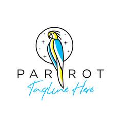 Parrot bird inspiration logo outline vector