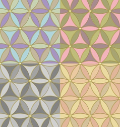 pattern of hexagons vector image