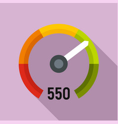 Performance credit score icon flat style vector