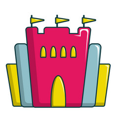 Princess castle icon cartoon style vector