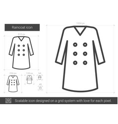 raincoat line icon vector image