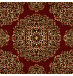 Red pattern of mandalas vector