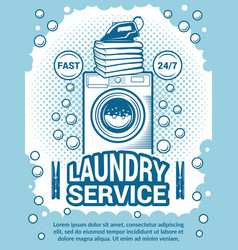 retro poster for dry cleaning advertisement vector image