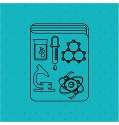 scientific laboratory design vector image