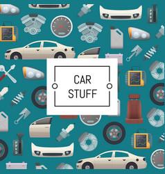 set car parts background vector image