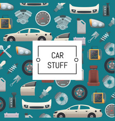 set of car parts background vector image