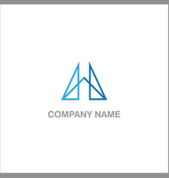 shape line design company logo vector image