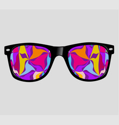 sunglasses with polygons abstract geometric vector image