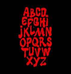 thriller brush calligraphy hand lettering font vector image