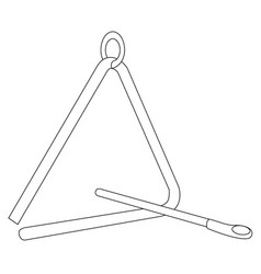 Triangle instrument outline vector