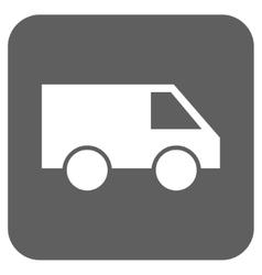 Van Flat Squared Icon vector image