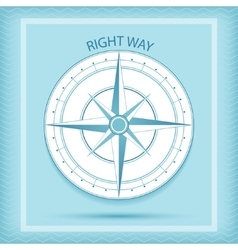 Wind rose symbol Compass - Right way concept vector image