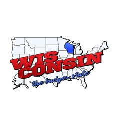 wisconsin state with us state vector image