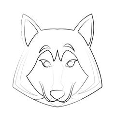 Wolf cartoon icon vector