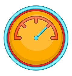 Yellow speedometer icon cartoon style vector image