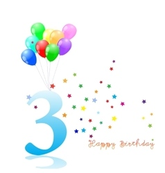 Anniversary third birthday signs collection vector image vector image