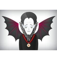 Count Dracula is a charming Halloween vampire vector image vector image