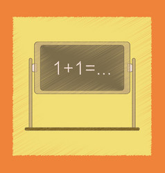 flat shading style icon school blackboard vector image vector image