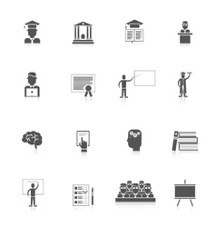 Higher Education Icon Set vector image