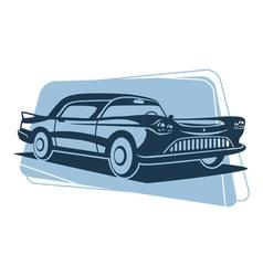 Retro car silhouette vector image