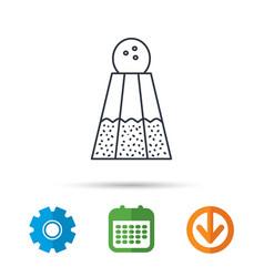 salt icon sodium spice sign vector image