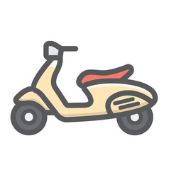 scooter filled outline icon transport and vehicle vector image vector image
