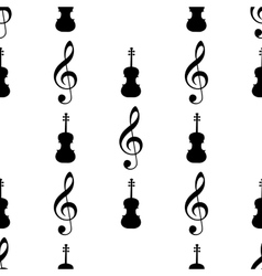 Seamless pattern with musical signs vector image