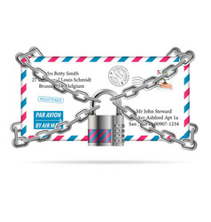 Confidential Mail vector image vector image
