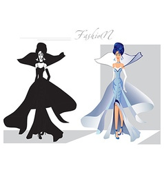 fashion on the catwalk snow Queen vector image vector image