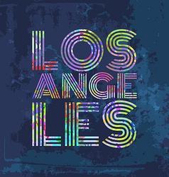 Los Angeles - Artwork for wear in custom colors vector image