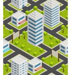 Seamless background city Isometric vector image