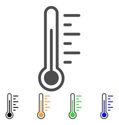 temperature flat icon vector image vector image