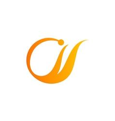 abstract color unusual logo vector image vector image