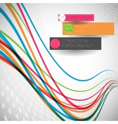 abstract colorful wave line vector image