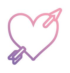 arrowed heart icon vector image vector image