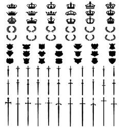 Black silhouettes of symbols vector image