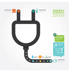 infographics eco energy concept design diagram vector image vector image