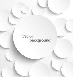 Paper circles with drop shadows vector image vector image