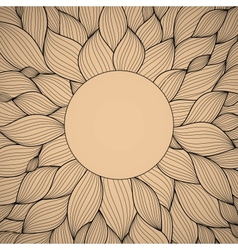 radial hand-drawn pattern waves background vector image