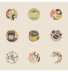 Retro coffee emblems vector image