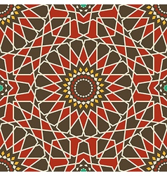 Arabesque seamless pattern in red and brown vector image vector image