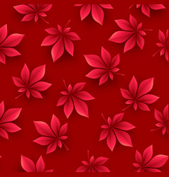 autumn leaves background fall seamless pattern vector image
