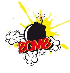 Bomb comic vector
