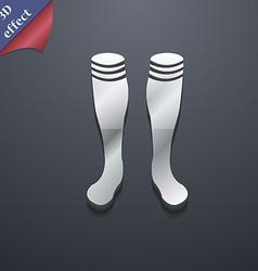 Football gaites icon symbol 3D style Trendy modern vector image