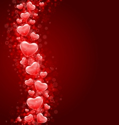 hearts fly background vector image vector image
