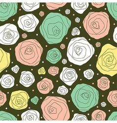 retro flower pattern vector image vector image